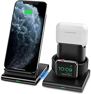 Seneo Wireless Charger, 3 in 1 Wireless Charging Station for Apple Watch, AirPods Pro/2, Detachable and Magnetic Wireless ...