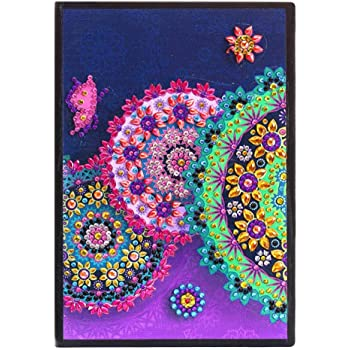 DIY Mandala Special Shaped Diamond Painting Organizer Students Notebook Easter A5 Blank Notepad Pefect Gift for Back to School AA001 Leather Cover Notebook Christmas Birthday