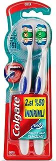 Colgate 360 Komple Ağız Temizliği Diş Fırçası Orta 1+1 1 Paket