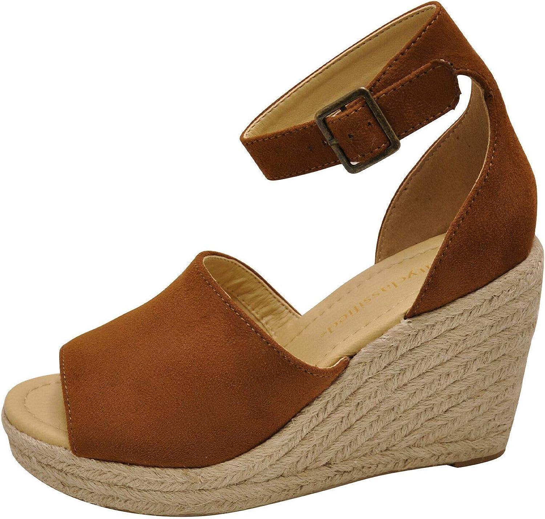 City Classified Joy Women's Platform Wedge Espadrille Sandals