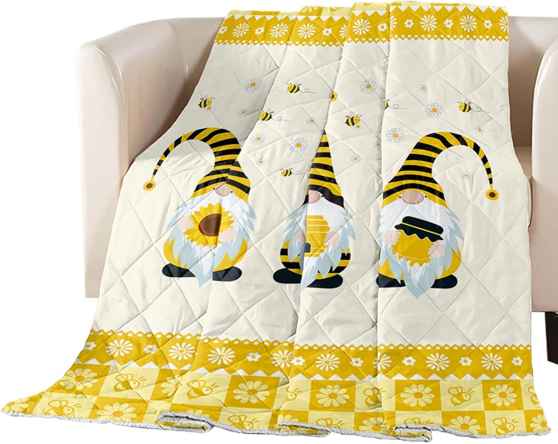 Sunflower Honey Gnome Down New mail order Comforter Alternative Reversible Bed NEW