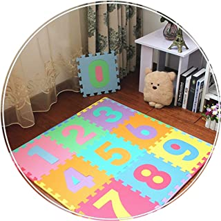 YANGJUN Interlocking Foam Mats Kids Crawling Mats Soft Waterproof Odorless Non-slip Easy To Clean Digital (Color : A, Size...
