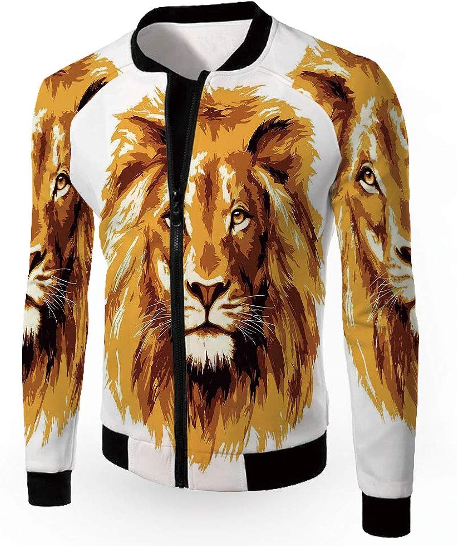 d921a398c IPrint Jackets Lightweight Zipup Windproof Windbreaker Jacket,Tige  Coats,Safari,Men's nwrwbv4204-Sporting goods