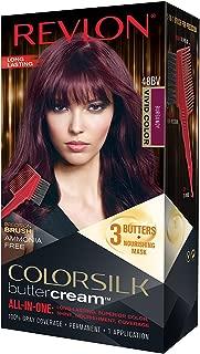 Revlon Colorsilk Buttercream Hair Dye, Vivid Burgundy, Pack of 1