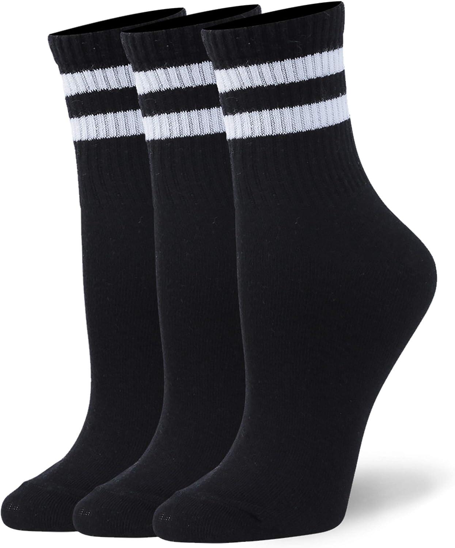 WXXM Unisex Cotton Casual Crew Socks 3/6 Pairs