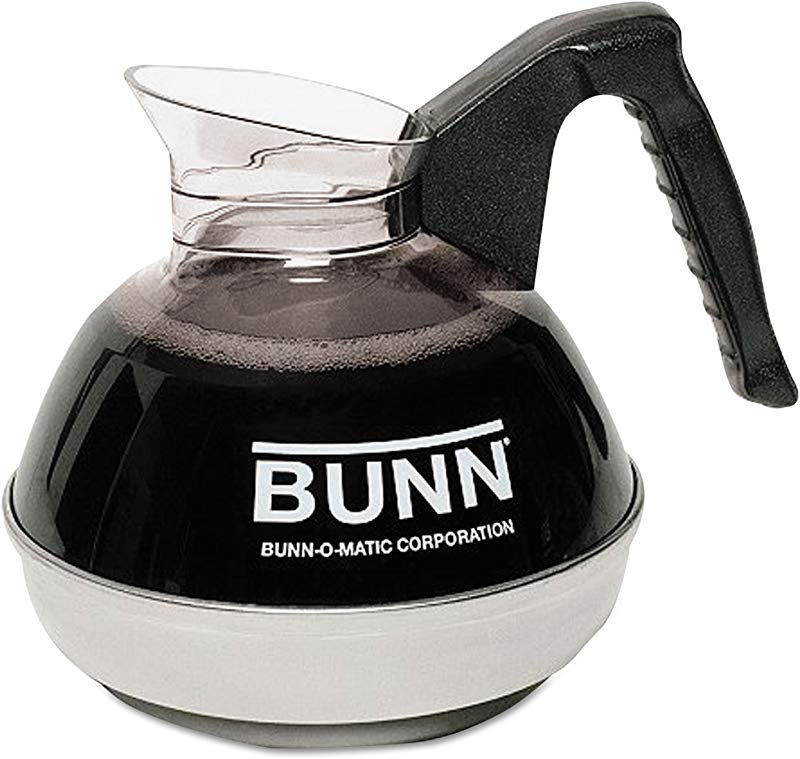 BUNN 06078 0001 12 Cup Glass Coffee Decanter Black
