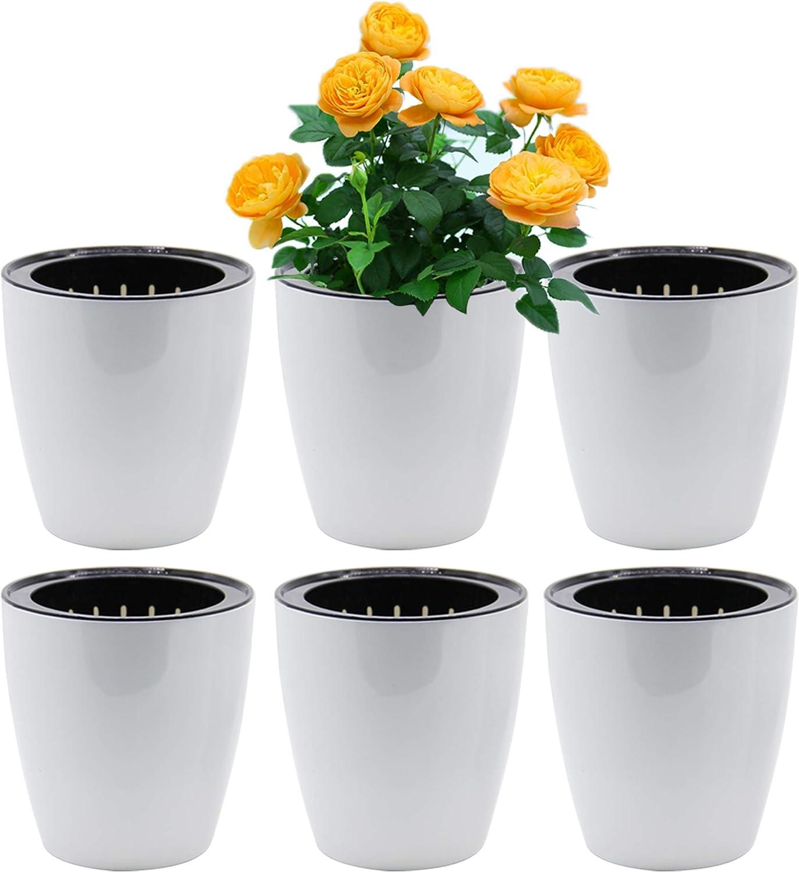 SAND trend rank MINE Self Watering Max 62% OFF Planter 6 Pot Flower White XL