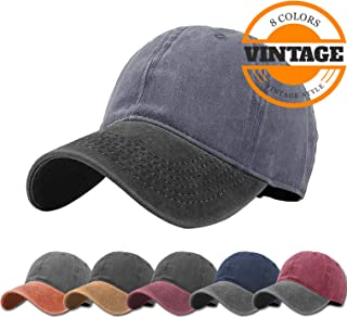 Unisex Vintage Washed Distressed Baseball-Cap Twill...