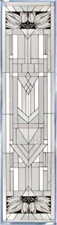 Mission Style White Painted Glass Panel R-113
