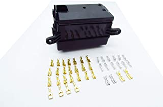 Relay Box,CNKF 1 set car insurance fuse box 12V 40A, 6 Relays, 6 Blade Fuses Holder Block with 41pcs Metallic Pins Automotive and Marine Use