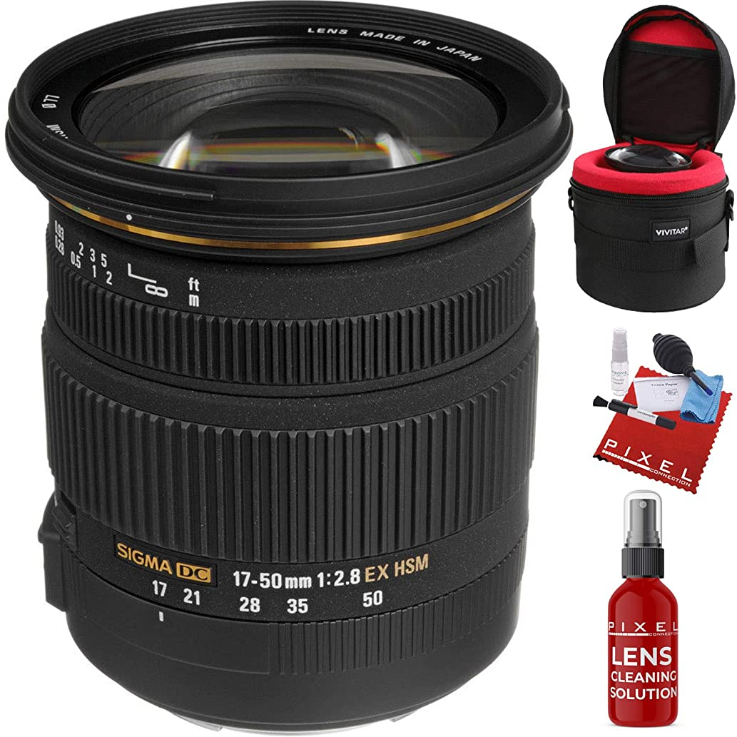 Sigma 17-50mm f/2.8 EX DC OS HSM Lens for Canon EF with Heavy Duty Lens Case