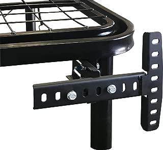 Boyd Sleep Basics Adjustable Mattress Bed Frame Accessory: Universal Headboard/Footboard Brackets, Black, Set of 2