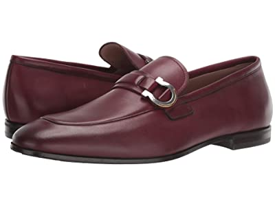 Salvatore Ferragamo Tweed Loafer (Wine) Men