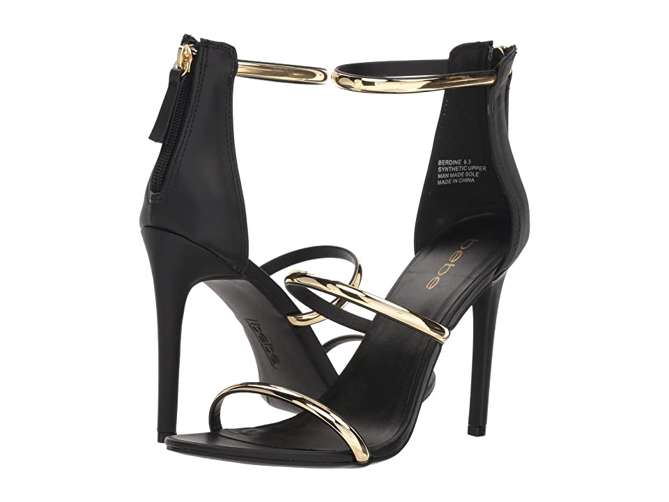 Bebe Berdine (Black Faux PU) High Heels