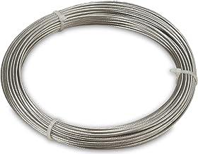 Windhager Rostfritt stålrep för montering och fastspänning av rep spännmarkiser och solsegling, 14 m x 2 mm, 10822, silver