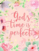 God's Time Is Perfect: 2020 Christian Monthly Planner with Inspirational Saying - Subtle, Floral Cover Design - Dated Blank Monthly Calendars, Space ... Events (2020 Christian Monthly Planners)