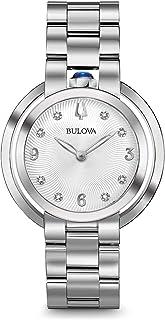 Bulova - Reloj Analógico para Hombre de Cuarzo con Correa en Acero Inoxidable 96P184