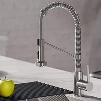Vigo Vg02007ch 27 H Zurich Single Handle With Pull Down Sprayer Kitchen Faucet In Chrome Touch On Kitchen Sink Faucets Amazon Com