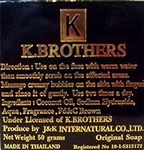 6 x K Brothers Soap Face Skin USA Soap Whitening Anti Melasma Dark Black Spots