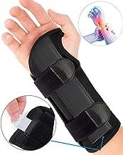 Carpal Tunnel Wrist Brace, Night Sleep Wrist Support, Removable Metal Wrist Splint for Men, Women, Tendinitis, Bowling, Sports Injuries Pain Relief - Right
