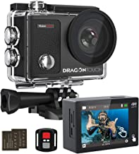 Dragon Touch 4K Action Camera Touch Screen 16MP Vision 3...