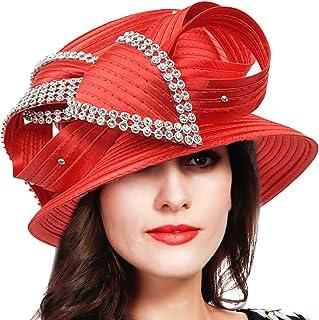 964e1fe271988 FORBUSITE Church Kentucky Derby Dress Hats for Women SD710