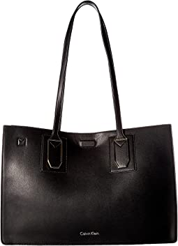 Calvin Klein Unlined Novelty East/West Boxed Tote