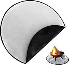 36 inch Fire Pit Mat for Deck Fireproof, 3 Layers Fire Retardant Mat for Grass, Fire Pad Protector for Patio, Lawn, Outdoo...
