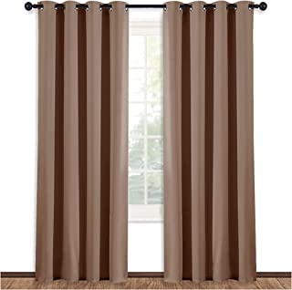 NICETOWN Grommet Top Blackout Curtain Panel - (Cappuccino Color) Thermal Insulated Room Darkening Drape for Villa/Apartmen...