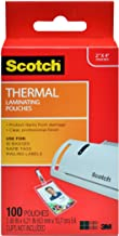 Scotch Thermal Laminating Pouches, 5 Mil Thick for Extra Protection, Professional Quality, 2.4 x 4.2-Inches, ID Badge with...