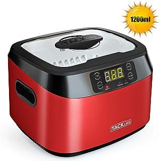 Nettoyeur à ultrasons 1200ml, Tacklife Machine à Nettoyer Domestique MUC01 avec Fonction de Dégazage 70W, 40KHZ, Acier INOX, 5 Réglages de Temps, Capteur d'Alliage