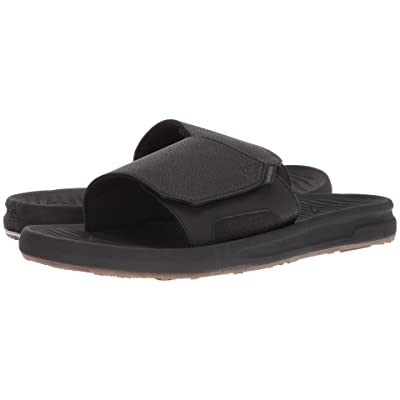 Quiksilver Travel Oasis Slide (Black/Black/Brown) Men