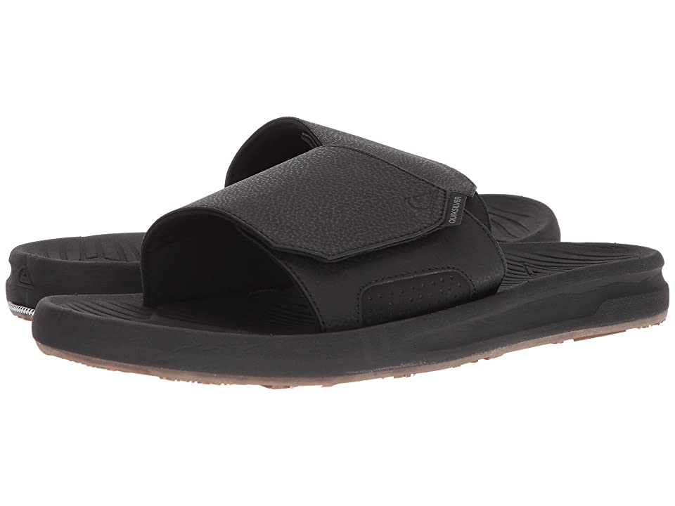 Quiksilver Travel Oasis Slide (Black/Black/Brown) Men's Sandals