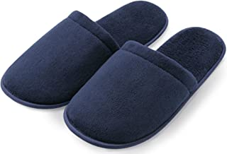 Pembrook Men's Slippers with Memory Foam – Soft Polar Fleece – House Slippers for Adults, Men, Boys