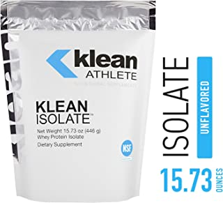 Klean Athlete - Klean Isolate - Whey Protein Isolate to Enhance Daily Protein and Amino Acid Intake for Muscle Integrity* - NSF Certified for Sport - Unflavored - 15.73 oz (446 g)