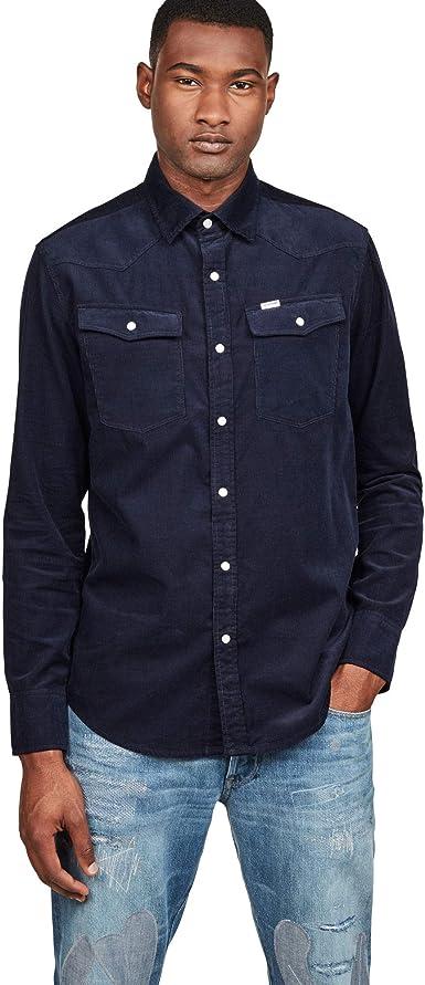 G-STAR RAW 3301 Slim Shirt, Camisa vaquera para Hombre