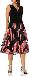 فستان نسائي واسع بطول الركبة من S.L. Fashions