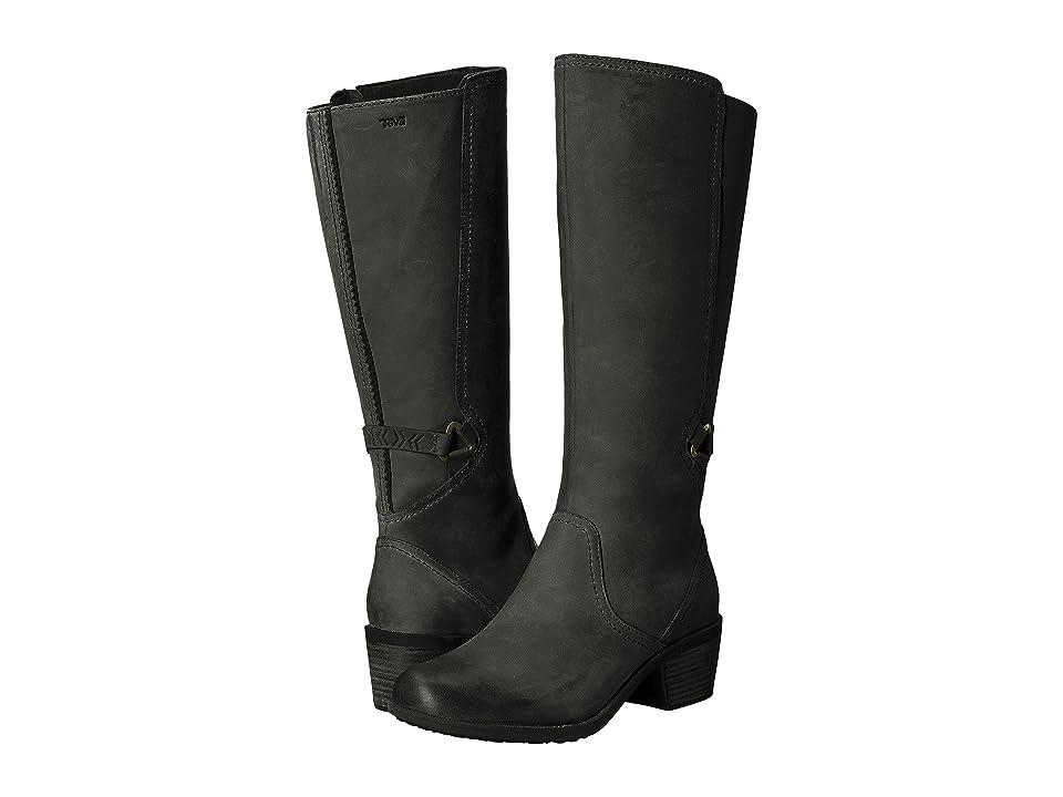 Teva Foxy Tall Waterproof (Black) Women's Shoes