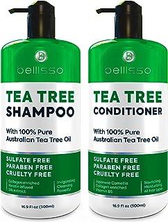 ست شامپو و نرم کننده روغن چای - درمان پوست سر بدون سولفات ضد شوره - ضد قارچ و ضد باکتری