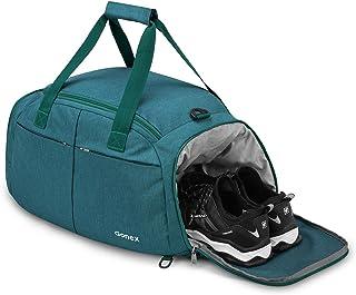 Gonex Faltbare Reisetasche 40L mit Schuhfach Abnehmbarer Rucksack Sporttasche für Outdoor Reise Sport
