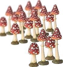 24 x Deko Pilze in 2 Größen PU-Schaum künstlich !!! braun//beige