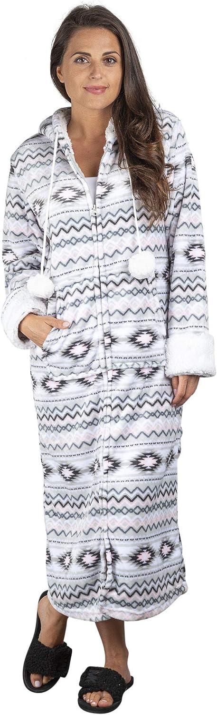 TrailCrest Aztec Womens 新入荷 流行 Lightweight 優先配送 Soft Hooded Up Zip Fleece Lo
