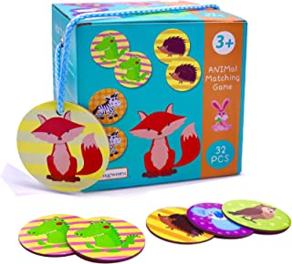 Memory Card Game - 16 Pairs Animals Memory Games for Kids 3 and Up, Memory Matching Game for Toddlers Education, Non Toxic...
