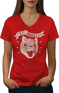 Wellcoda ザ? 山猫 怒りました ビンテージ 婦人向け S-2XL リンガーTシャツ