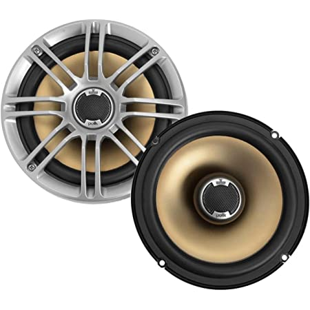 "Polk Audio DB651 6.5""/6.75"" 2-Way Marine Certified db Series Car Speakers with Liquid Cooled Silk Tweeters (Discontinued by Manufacturer),silver/black"