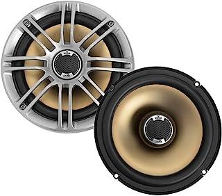 "Polk Audio DB651 6.5""/6.75"" 2-Way Marine Certified db Series Car Speakers with Liquid Cooled Silk Tweeters (Discontinued by Manufacturer),silver/black"