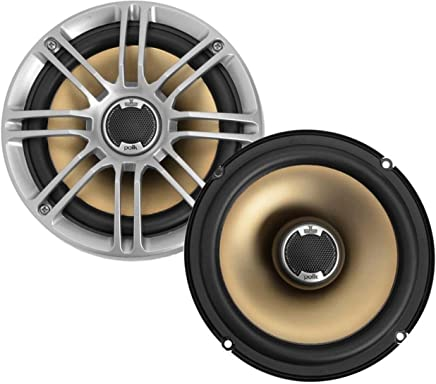 "Polk Audio DB651 6.5""/6.75"" 2-Way Marine Certified db Series Car Speakers with Liquid Cooled Silk Tweeters (Discontinued by Manufacturer)"