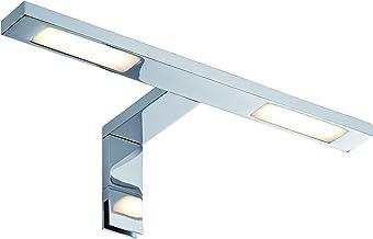 Paulmann Galeria 99385 spiegel- en kastlamp LED wandlamp dubbele haak schijnwerper 2x32W badkamer chroom kastverlichting i...