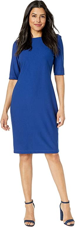 Solid Savanah Crepe Midi Dress