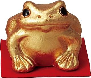 信楽焼 置物 金運蛙(小) 幅7x奥7.5x高さ6.5cm 566-05